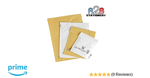200 Small B//00 215mm x 120mm White Bubble Padded Post Bags Envelopes
