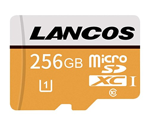 lancos 256GB Klasse 10UHS-I microSDXC Speicherkarte mit SD Adapter