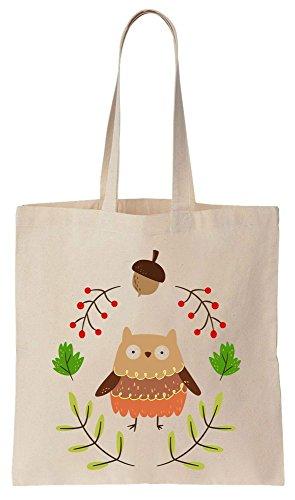 Cute Owl In The Forest Tote Bag Baumwoll Segeltuch Einkaufstasche -