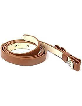 TOOGOO(R) Donna ragazze Cintura magre stretta con doppio fiocco Cintura Vestito
