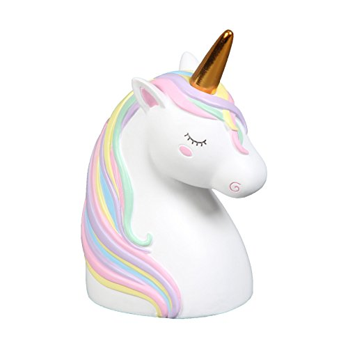Magic unicorn Head resina caja dinero Banco ahorro