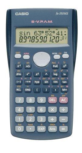 CASIO FX-350MS Technisch-Wissenschaftlicher Rechner , 240 Fkt., Batteriebetrieb, CALC-Funktion