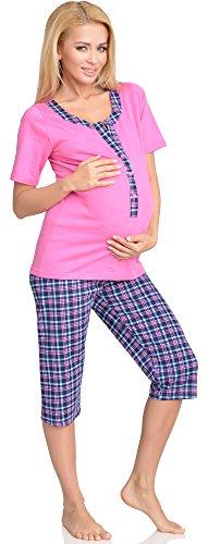 Be Mammy Pigiama Premaman con Funzione Allattamento H2L2N2 Rosa