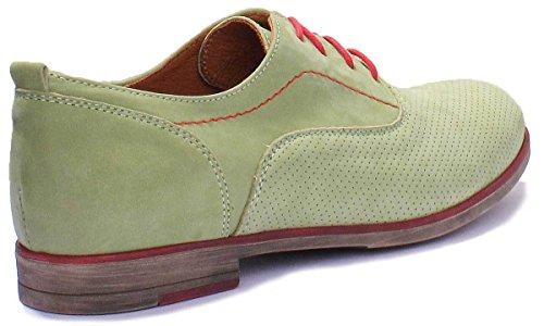 Justin Reece 5000, Zapatos De Mujer Verde Con Cordones