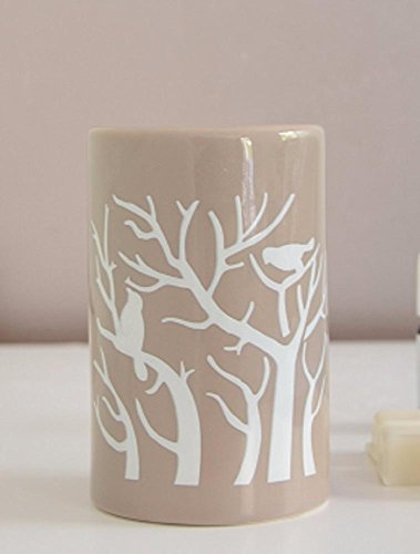 Aromalampe Duftlampe Tree aus Keramik beige 11 cm