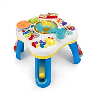 bright starts having a ball tm get rollin 39 activity table tm white baby. Black Bedroom Furniture Sets. Home Design Ideas