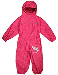 Regatta infantil Puddle IV traje de all-in-One, niña, color Rosa - rosa, tamaño 60-72mts