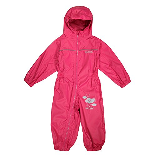Regatta Puddle IV Kinder Regen-Overall, Pink, 36–48 Monate