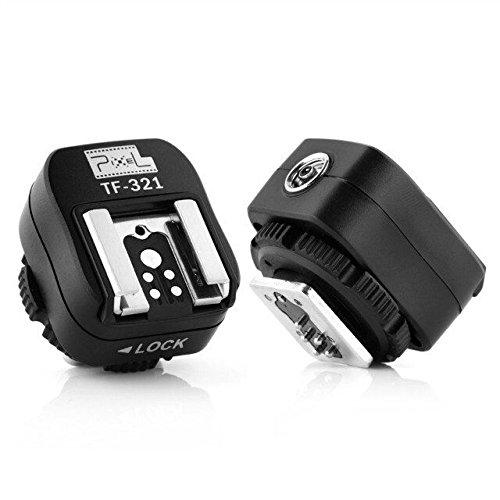 Kilo Pixel TF-321 E-TTL Blitzschuh-Adapter mit extra PC-Sync-Port für Canon DSLRs und Blitzgeräte