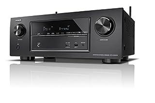 Denon AVRX3300WBKE2 7.2 Surround AV-Receiver (Dolby Atmos, dtsX, WLAN, Bluetooth, Spotify Connect, 7 Plus 1 HDMI 3D, 4K, 2 HDMI Ausgänge, HDCP 2.2, 2-Zonen, 7X 180 Watt) schwarz (B01GQ85GIU)   Amazon Products