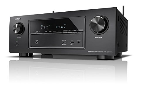 Denon AVRX3300WBKE2 7.2 Surround AV-Receiver (Dolby Atmos, dtsX, WLAN, Bluetooth, Spotify Connect, 7 Plus 1 HDMI 3D, 4K, 2 HDMI Ausgänge, HDCP 2.2, 2-Zonen, 7x 180 Watt) schwarz Receiver Denon Avr