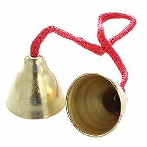Paire Clochette Cloche Sonnette En Laiton Avec Cordon 32cm Instrument