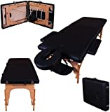 Massage Imperial Black Charbury 2-Section Portable Massage Table Couch Bed Spa B