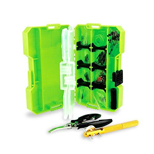 ZFW Double-Layer Angelausrüstung Aufbewahrungsbox Werkzeug-Set Multifunktions Campingzubehör und Bewältigung von im Freien sicher und sicher, einfach zu bedienen -