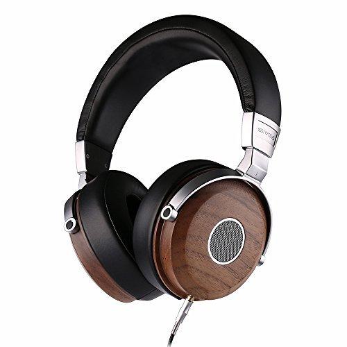 SIVGA Offener Over Ear Verkabelte Kopfhörer aus Holz mit Eingebaute Mikrofon und Lautstärkeregler, Hi Fi Professionelle Studiokopfhörer mit Komfortablem Ohr Kissen, SV005 (Hand 5 Rechte Holz)