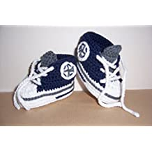 Sneakers Chucks Turnschuh gehäkelt gestrickt Gr 16//17 *Kirschkind* Babyschuhe