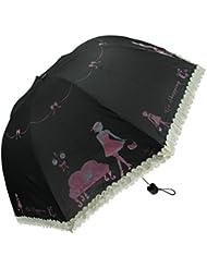 Parapluie Pliant Femme Résistant Au Vent Solide Incassable Classique de Voyage Pliable Parapluies de Voyage Coupe-vent Compact Mignon Créatif 9 baleines 190T tissu bleu/rose/violet/Jaune clair/noir