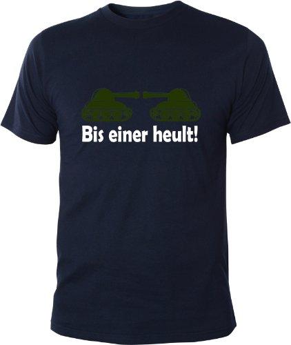 Mister Merchandise Cooles Fun T-Shirt Bis einer heult Navy