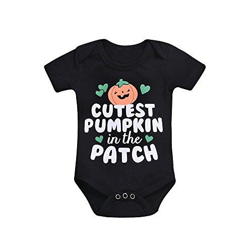 OverDose Damen Happy Halloween Neugeborenen Baby Mädchen Jungen Brief Print Strampler Overall Halloween Outfits Overall Vampire Cosplay ()