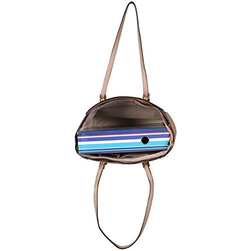 LeahWard® Damen Übergröße Handtaschen Damen Kunstleder Essener Käufer Schultertaschen Tragetasche CWS00464 nackt mit M LOGO