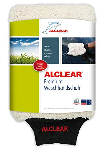 ALCLEAR 950013WH Guante Microfibra Lavar Coche jabón: