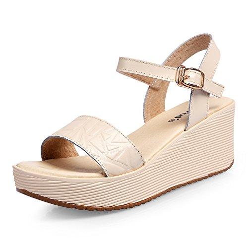 Sandales Wedge/Plate-forme été Joker Chaussures enfants/ gâteau Dame à la fin de/Sandal/Chaussures à talons hauts C