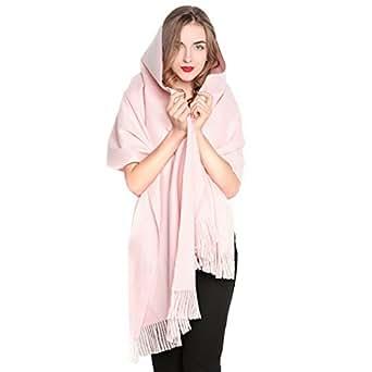Women Oversized Large Ultra Soft Cashmere Wool Pashmina Wrap Shawl Stole Scarf (Baby Pink)