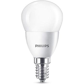 Philips Bombilla LED esférica E14, 5.5 W equivalentes a 40 W en incandescencia, luz blanca