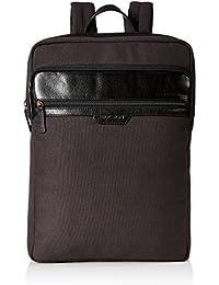 Hidesign Bracken Black Casual Backpack (VIKING 02-CANVAS E.I GOAT)