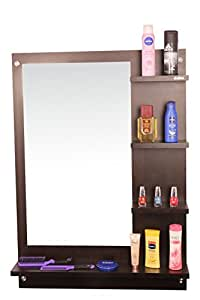 Anikaa Mavis Dressing Table/Wall Mirror'with Shelves (Wenge)