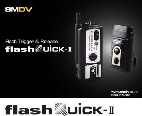 SMDV flashquick-ii Flash Trigger & Release, Wireless Digital Radio Fernbedienung Flash Slave mit Hot Schuh - Sender und Empfänger Set -