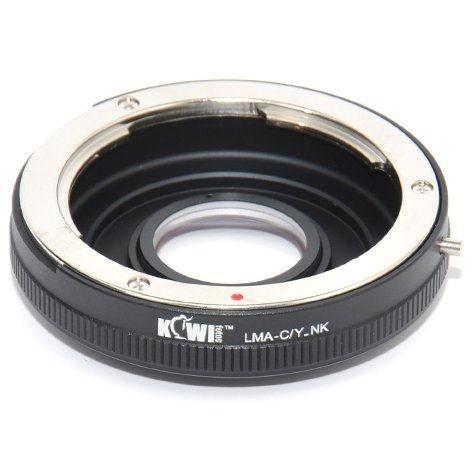 Kiwifotos LMA-C/Y_NK Objektivadapter (mit Linse) Contax/Yashica (C/Y) - Nikon D-SLR (A / C-umwandlung)