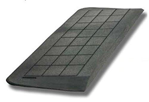 FabaCare Schwellenrampe Gummi, Rampe für Türschwellen, 3 abgeschrägte Seiten, schwarz, Türschwellenrampe, Anti-Rutsch-Veredelung, 3 cm x 23,6 cm x 90 cm, Schwellenhöhe 3 cm -