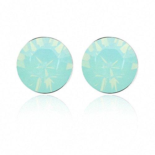 TAOTAOHAS- Boucles d'oreilles [ clignotant, aigue-marine ] fait avec Autrichien Cristal Stud Boucles d'oreilles, alliage 18KGP carats platine / or blanc, tchèque strass Pacific Opal (True Platinum Plated)