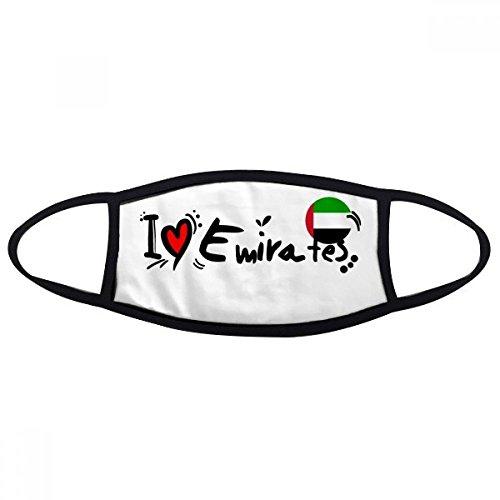DIYthinker Amo Ilustración Unidos palabra bandera del amor del corazón Boca Cara máscara anti-polvo anti fría del regalo del algodón lavable caliente