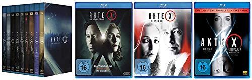 Akte X Blu-ray komplett Mega Paket Staffel 1 bis 9 Box + Die neuen Fälle + Staffel 11 + Kinofilme [Blu-ray]