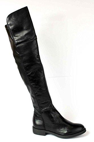 DIVINE FOLLIE stivale donna nero pelle alto sopra ginocchio 39