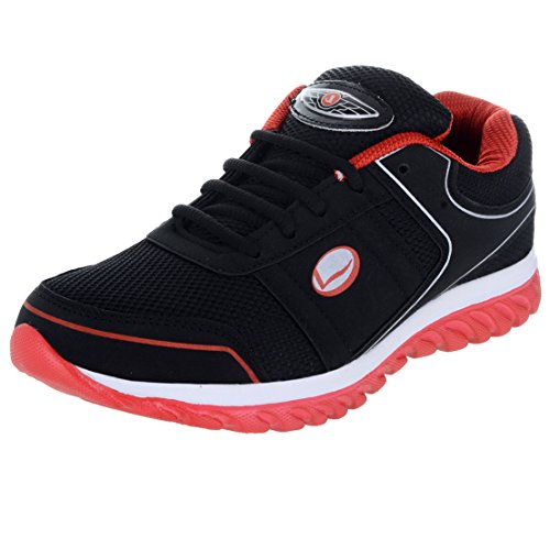 Lancer Men's Red Black Running Shoes-8 (HYDRA-42-BLK-RED-8)