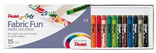 Pentel-GmbH-PTS15-Stoffmalkreide-15er-Kunststoffetui