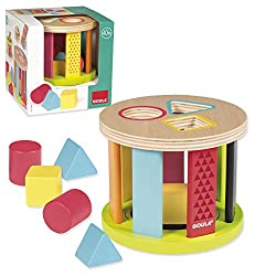 Jumbo Spiele D53455 Geometrische Formen-Steckspiel-Trommel