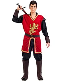 Elbenwald Medieval Prince Lionheart Costume, Frock Pieces Of Men's Hiking Boot, Belt For Carnival Red