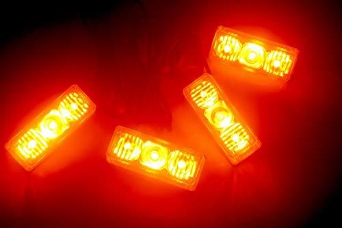 12 W 4 x 3 LED strobe lumières clignotantes Barre d'urgence Grill Hazard lampe d'avertissement pour 12 V Vehilces