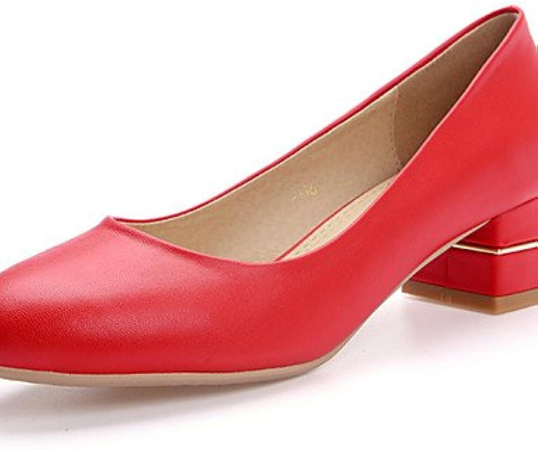 ZQ Zapatos de mujer-Tac¨®n Robusto-Tacones / Punta Redonda-Tacones-Vestido / Casual / Fiesta y Noche-PU-Negro...