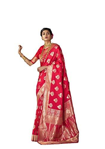 Indian Party Wear Sarees (Indian Wear Saree Ethnic Party Wear Sari Traditional Banarasi Silk Saree Wedding Wear Saree Designer Saree A28)
