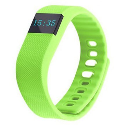 Maya TW64 OLED Display Bluetooth 4.0 Waterproof Smart Bracelet Watch, Support Pedometer / Sleep Monitoring / Call Reminder / Clock / Remote camera / Anti-lost Function, Compatible with iOS and Android System Watches for men women (Green)