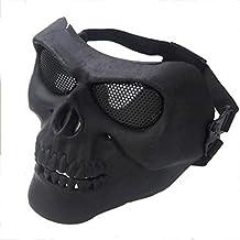 PRIDE S Esqueleto Guerrero al aire libre de la media cara de Protección Terror Mask Máscara medio esqueleto