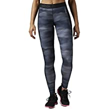 Reebok Wor All Camo Tight - Mallas para mujer, color azul, talla XS