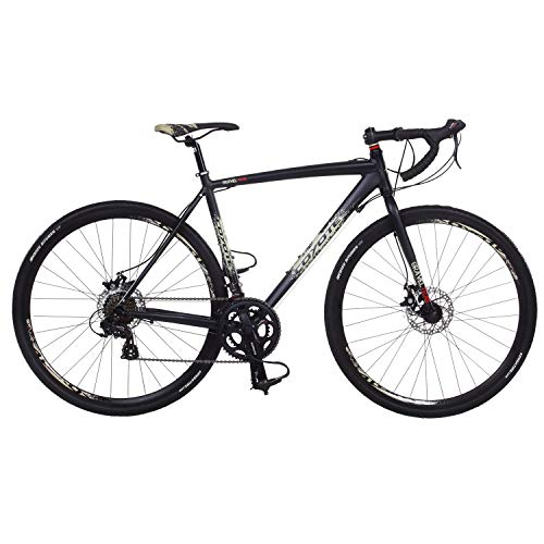 "Galano Cyclocross 700c Gravel Bike Cross Fahrrad Rennrad 28"" Gravel Trail 14Gang (Coyote schwarz, 52)"