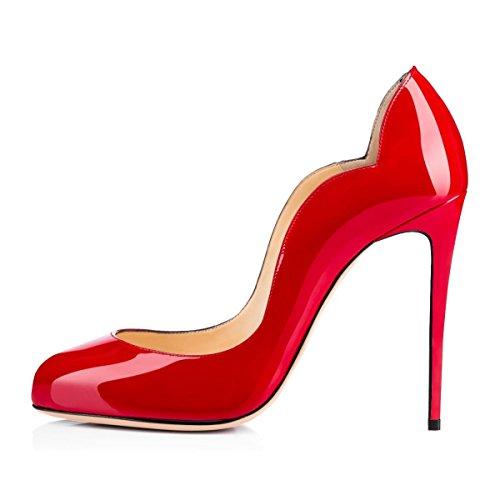 uBeauty Escarpins Femmes Chaussures Stiletto Soles Rouge Talon Aiguille Grande Taille Rouge