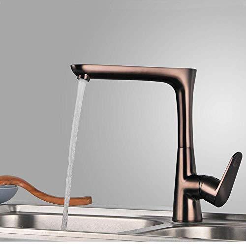 Küchenarmatur - Einloch mit Öl eingeriebener Bronze-Stangen- / Vorbereitungs-Deckenmontierte zeitgenössische Küchenarmaturen/Einzelgriff Einloch: Standard, Standard